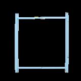 Bijzettafel / dienblad, blauw