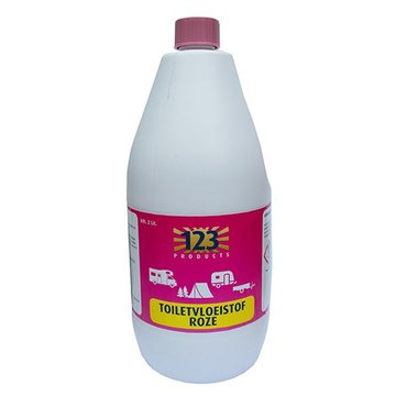 Toiletvloeistof spoelwater roze 123
