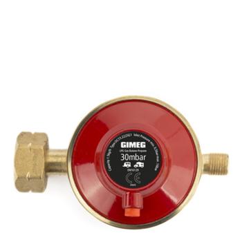 Gasdrukregelaar met afblaasbeveiliging 30 MBAR KOMBI X 1/4 INCH LINKS