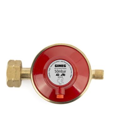 Gasdrukregelaar met afblaasbeveiliging 50 MBAR KOMBI X 1/4 INCH LINKS