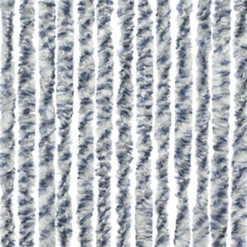 Chenille vliegengordijn (kattenstaarten) Rain blauw/grijs 56X185CM (caravandeur)