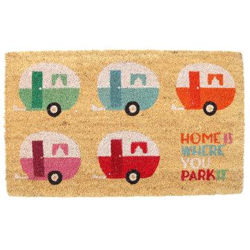 Deurmat Caravan 'home is where you park it'