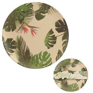 Campingservies Leaves, bord, bamboe, eco
