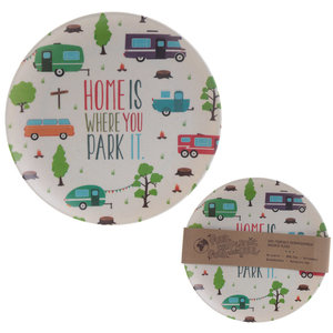 "Camping servies camper/caravan ""Home is where you park it"""
